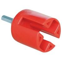 Montážna hlavica červená - pre kruhové a ploché izolátory