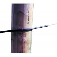 Izolátor hadicový do 5 mm, plast, čierny, 10 m